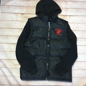 Beverly Hills Polo Club black puffy jacket L